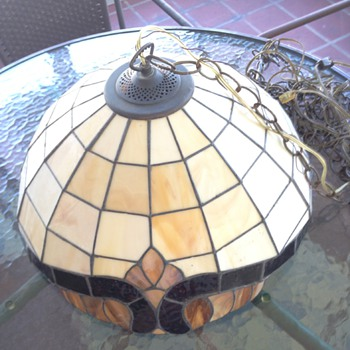 Slag lamp no cracks from old home in FL
