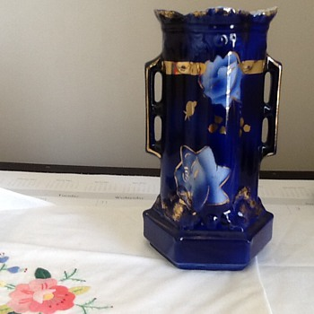 Cobalt Blue and Gold Vase