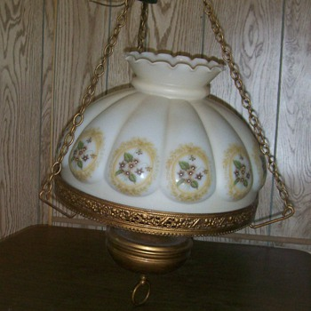 Vintage Hanging Parlor Lamp??