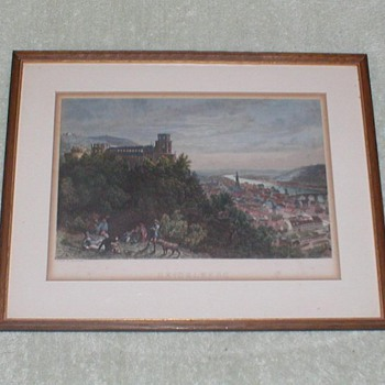 Heidelberg print from engraving - Posters and Prints