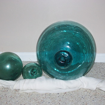 Roped Glass Buoys - Art Glass