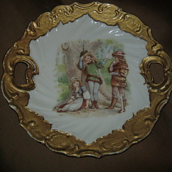 Porcelain plate Frances Brundage ? 