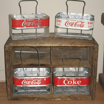 A Few Aluminum Coca-Cola Carriers  - Coca-Cola