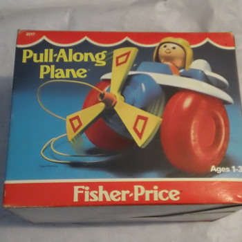 1981 FISHER-PRICE PULL-A-LONG PLANE FACTORY SEAL MINT - Toys