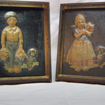 Sweet Framed 3D Pieces - Folk Art