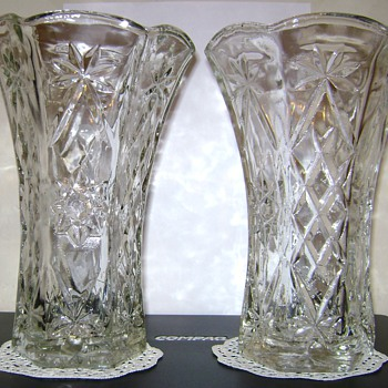 Diamond Cut Floral Vases - Glassware
