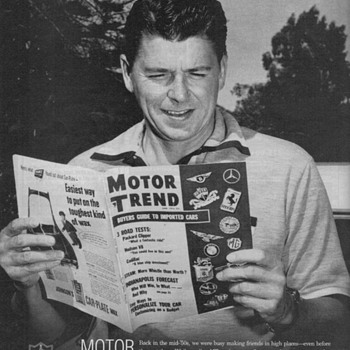 Motor Trend Magazine Ad - Ronald Reagan - Advertising