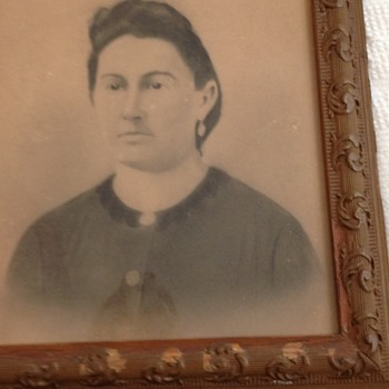 Ancestor Portrait with Antique Frame