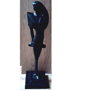 "Art Deco Style Female Figure / Sculptures by Austin-Brooklyn, New York / Signed ""Fisher"" Circa 1988 - Visual Art"