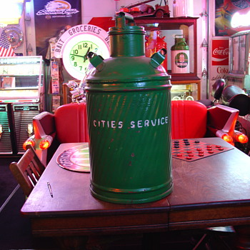 Embossed...Cities Service...Ten Gallon Oil Can