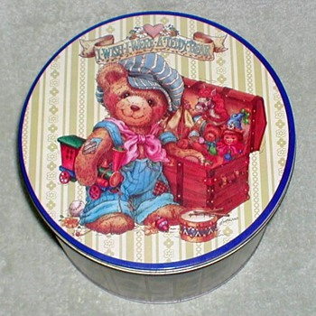 "Christmas Tin - ""I Wish I Were A Teddy Bear"" - Christmas"