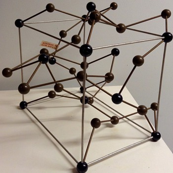 Mid Century Metaloglass, Inc. Sculptural Molecular Model of Cementite - Mid-Century Modern