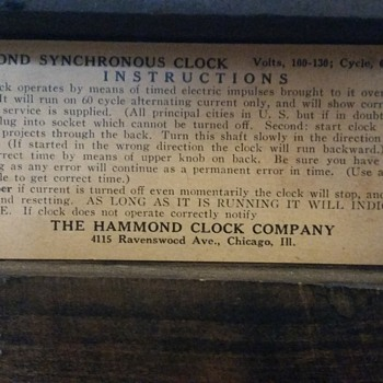 Hammond Gothic clock Series G No. 1010