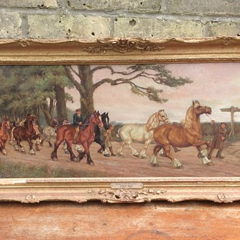 Going to the horse fair (Travellers horses) Edwin Bold 1891-1899 Oil painting - Visual Art