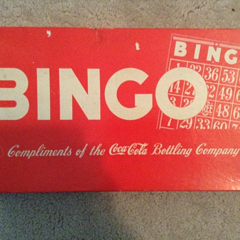 My coca cola bingo set