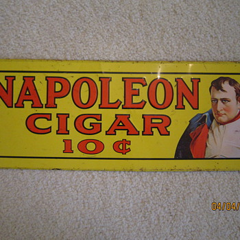 Steel Napoleon Cigar Advertisement Sign