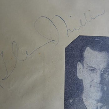 Glenn Miller, Bob Hope +++ autograph booklet - Music