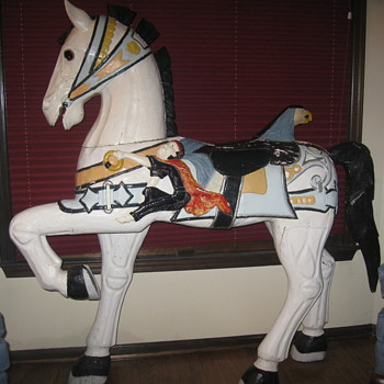 20th Century Imported European Carousel Horse - Replication - Animals