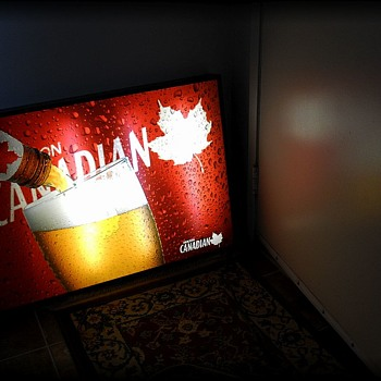 MOLSON CANADIAN Beer Light up Sign // Poster