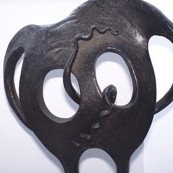 """1/2 Modern Metal Sculpture""""Twist""""Can you Dance,April 6, 1987,Ross Tanner - Visual Art"""