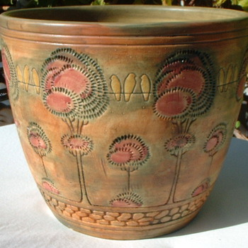 Weller Flemish? Jardiniere - Pottery