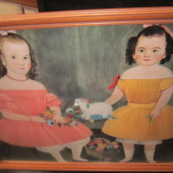 Portrait of 2 children from around the 20's? - Visual Art