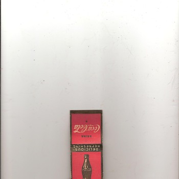 Coca-Cola Matchbook