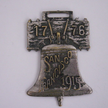 San Francisco 1915 Liberty Bell Fob