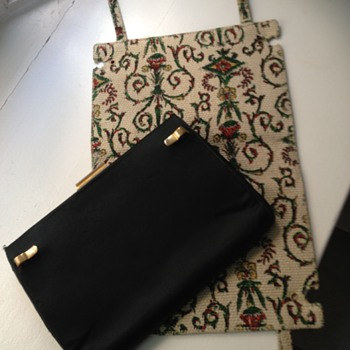 Gucci vintage convertible evening clutch with snap-on covers