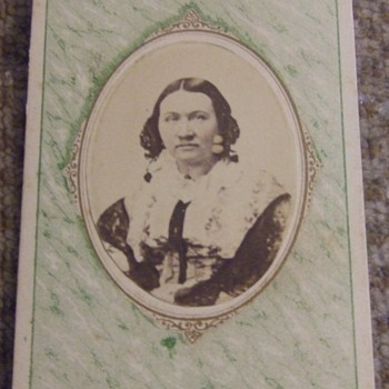 CDV copy image of woman from Clarksville, TN - Photographs