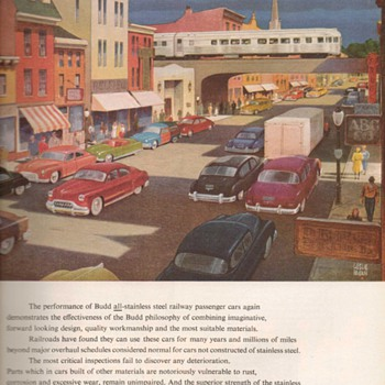 1951 - Budd Traincars Advertisement - Advertising