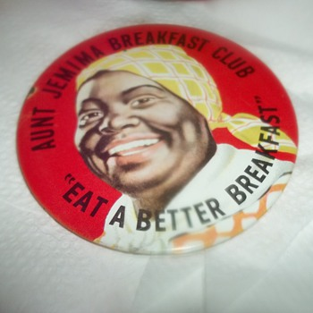 AUNT JEMIMA BUTTON - Advertising