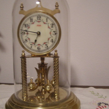 Glass Dome Windup Clock with Key  KUNDO - Clocks