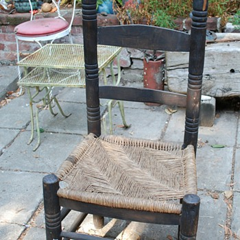 Cane [?] Seated Ladderback Chair