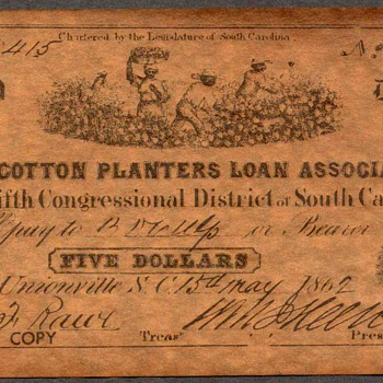 Confederate Currency - Novelty Note (South Carolina) - US Paper Money