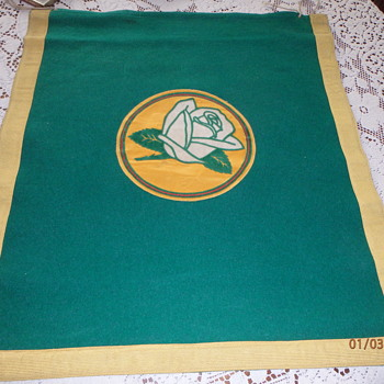 White Rose Band felt banner (rare and unique)