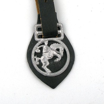 Cowboy on Horse Pocket Watch Fob -- Tom Mix ?