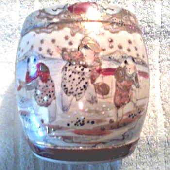 Japanese Satsuma Porcelain Water Jar /Circa 1920's - Asian
