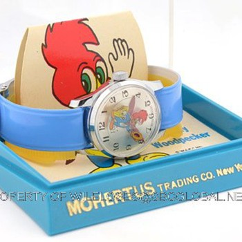 1970's Woody Woodpecker Wrist Watch in Box by Rouan / Mohertus Trading Co. - Wristwatches