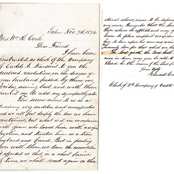 2 beautiful letters about our familyhe was  a soldier die 1873  - Military and Wartime