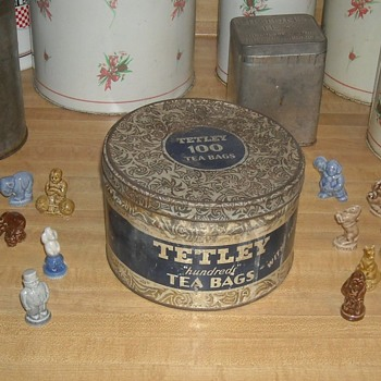 Vintage Tetly Tea Tin Held 100 Tea Bags