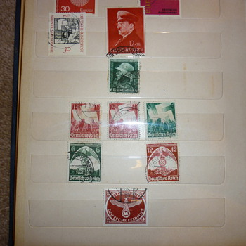 German WWII stamps found in a stamp album - Military and Wartime
