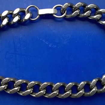 Expandro St. Steel West Germany Chain Link Men's Bracelet Flea Market Find $3
