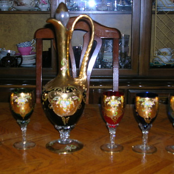 Wine Decanter and goblets - Glassware