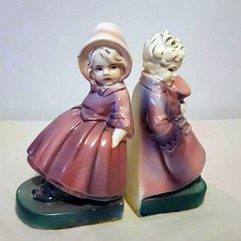 Two Girls as Victorian Bookends