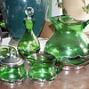 Farber Brothers items with green glass
