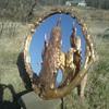 Vintage Peacock Mirror