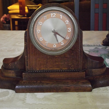1940's  German Art Deco Mantel Clock - Art Deco