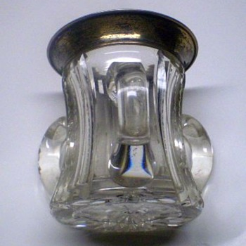 1905 sterling and crystal 3 handle cup