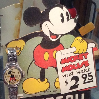 Ingersoll Mickey Mouse store standee - Advertising